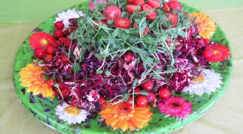 Colourful salad served at the Conference