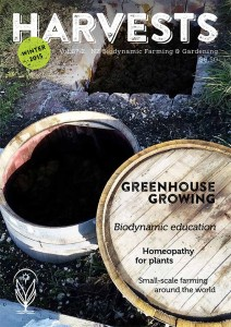 Cover of Harvests 67/2, Winter 2015